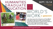 Humanities Graduate Education for the World's Work: A Symposium promotional image